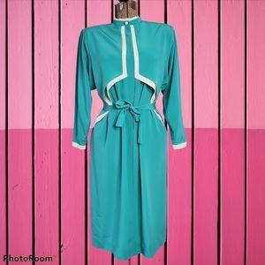 Vintage teal dress